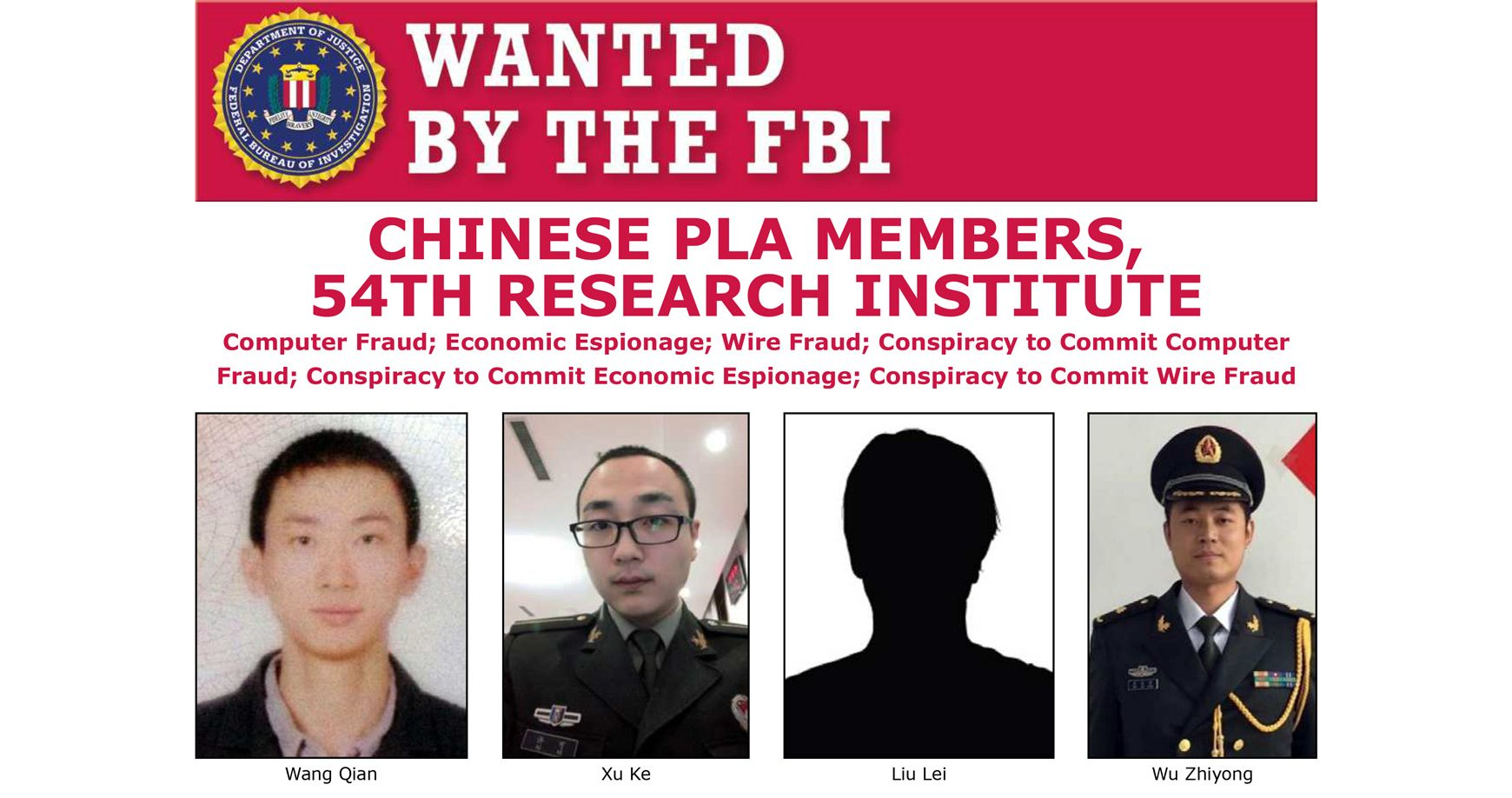 Z útoku na Equifax obvinili štyroch čínskych hekerov